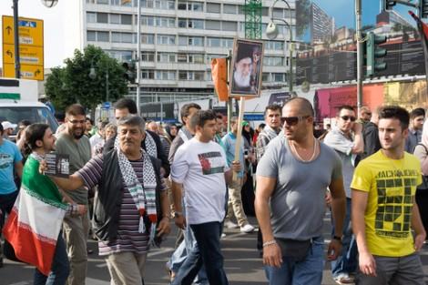 A pro-Hezbollah demonstration in Berlin, August 2012