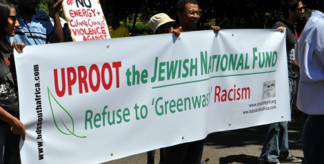Environmentalist protesters in Johannesburg, South Africa, November 2011 (photo credit: CC BY Meraj Chhaya/Flickr)