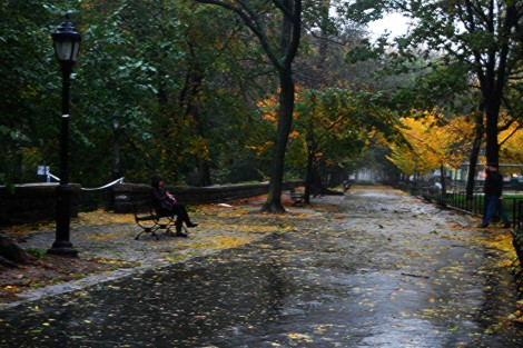 Hurricane Sandy descends on New York City, Monday (photo credit: CC BY Paul Lowry/Flickr)