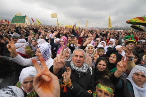 Kurds celebrate Newroz, a traditional feast whose name means 'new day' in Kurdish, March 20, 2011, Istanbul, Turkey