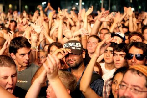 Street party in Jerusalem (photo credit: Abir Sultan)