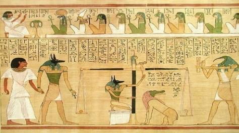 Anubis determines judgment