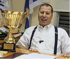 Ron Nachman in 2012 (photo supplied by Avi Zimmerman)