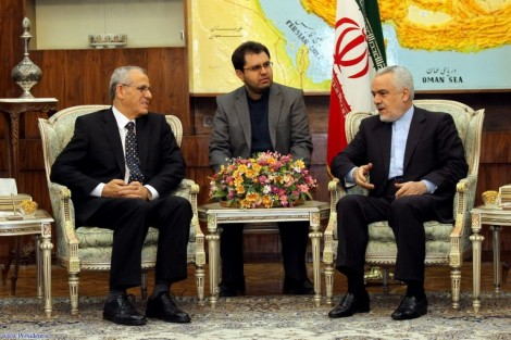 The author with WHO regional director Ala Alwan and Vice President Rahimi (photo: Iranian President's Website)