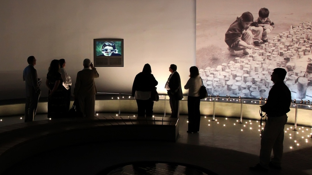 Visitors at the Yitzhak Rabin Center (photo: Yitzhak Rabin Center)