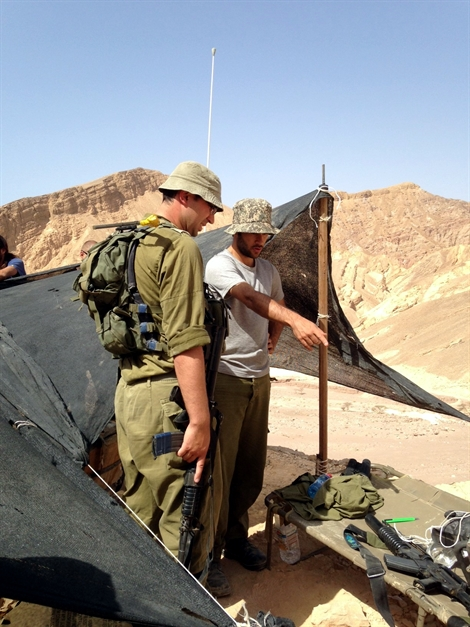 Reserve duty in the desert  (photo supplied by Ari Abramowitz)