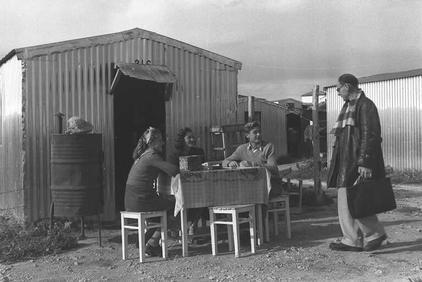 Ma'abara, a development town near Nahariya in 1952 (photo: Wikimedia Commons)