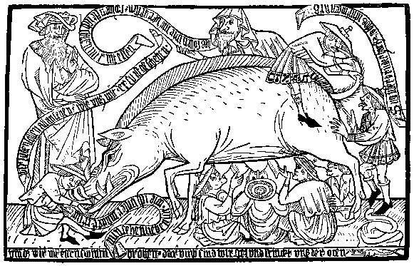 Medieval anti-Semitic illustration