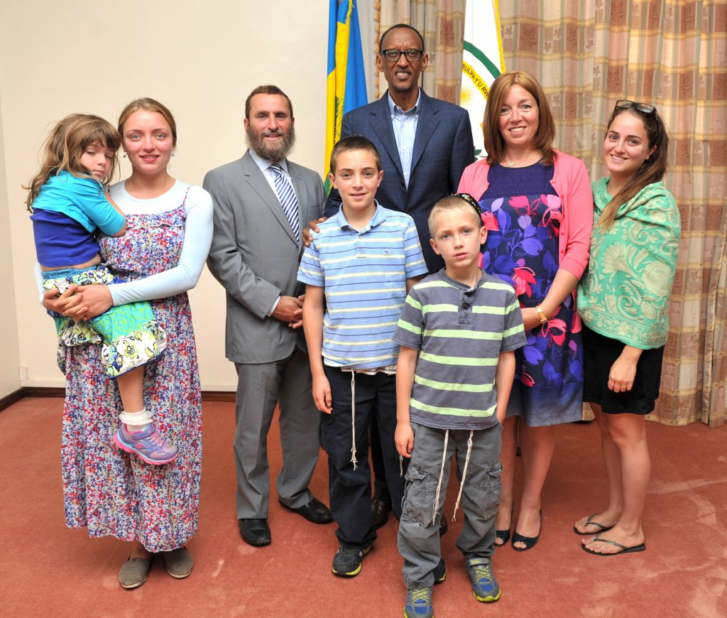 The author and family with dPresident Paul Kagame of Rwanda