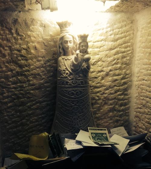 Offerings inside the Milk Grotto Chapel, Bethlehem (Photo credit: Hannah Fink)