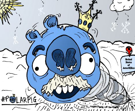 the polar pig is a beast of a winter ice and snow storm, via the daily dose of 1/14/2014