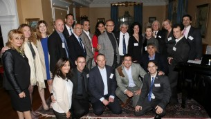 The entire group of Israeli medical startup companies and their hosts-Photo by Orly Halevy