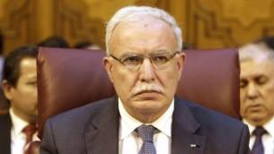 Palestinian Authority Foreign Minister Riyad al-Maliki