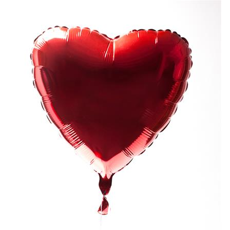 Red heart balloon. No strings attached.