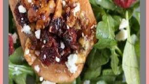 Roasted Brandied Pears with Bleu Cheese