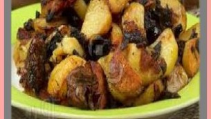 Roasted New Potatoes with Mushrooms and Onions