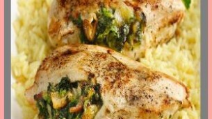 Roasted Stuffed Kosher Chicken Breast with Salsa Verde
