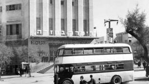 Double-decker bus in Tel Aviv, 1930's