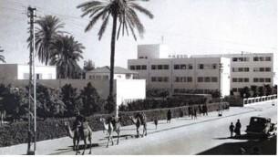 Camels in Tel Aviv, 1930's.