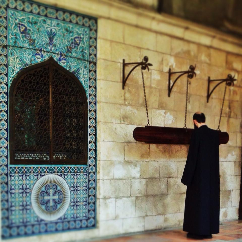 An Armenian priest summons the faithful to prayer. Photo by Sarah Tuttle-Singer