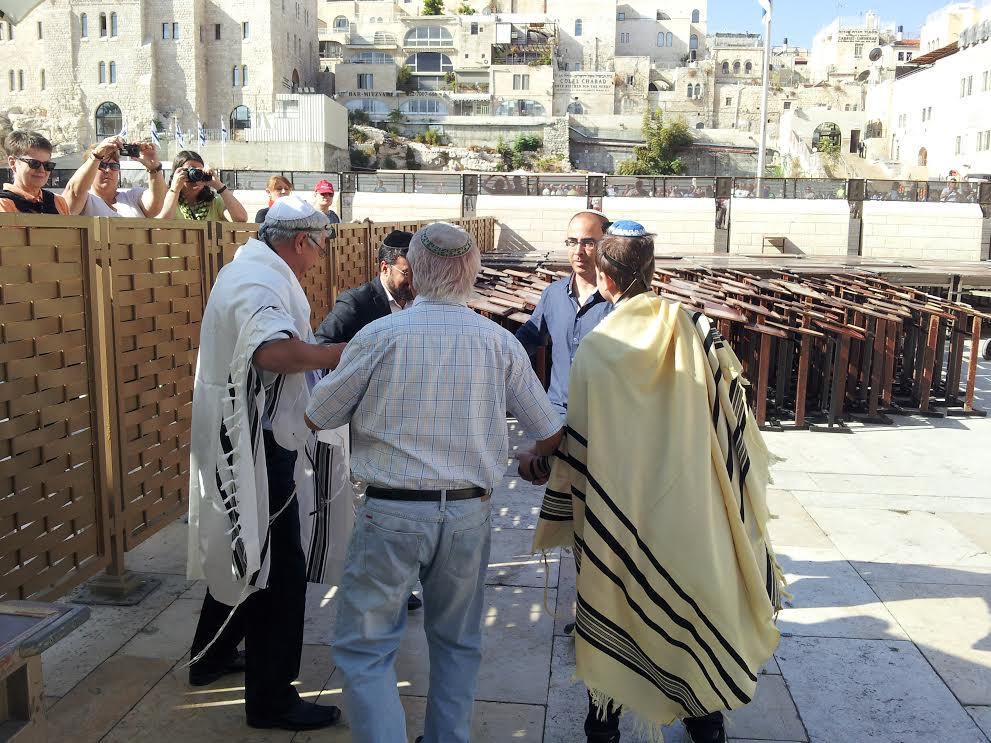A celebration at the Western Wall. Photo by Josiah Ching
