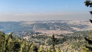 The hills from Yad Vashem