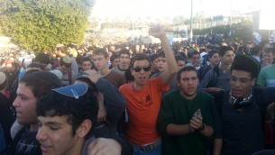 A small view of the tens of thousands marching to Mevaseret Adumim