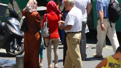 image people on Jerusalem street, photo Jerusalem street scene