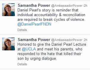 Ambassador Power's Tweets