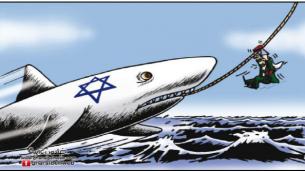 Jews as animals: shark. Al-Rai (Jordan), May 30, 2013
