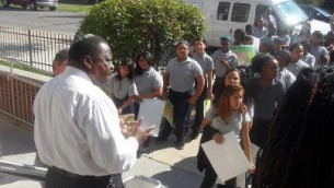 Rabbi Capers Funneye officiating at Weed Out Hate Protest March in Chicago 28 Aug 2012