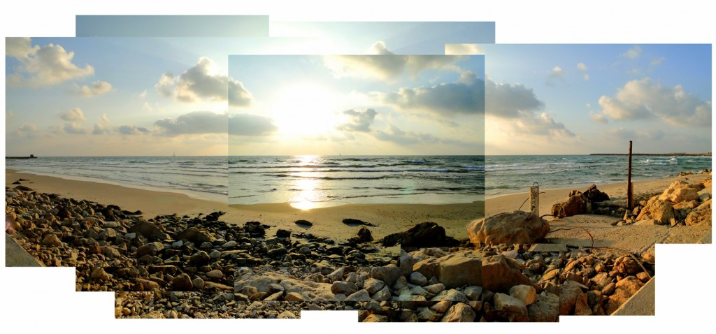 A panoramic beach view. Photo by Laura Ben-David.