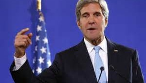 John Kerry's finger is pointing at Israel ...my way or you pay a price!