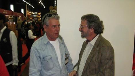 "Ya'ir Margalit (on left) ""the wine professor"" seen with Eli Ben Zaken of the Castel Winery"
