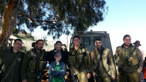 Ari and DL with Soldiers 2014