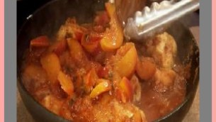 Chicken with Peaches and Basil
