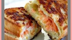 Grilled Smoked Salmon Sandwiches