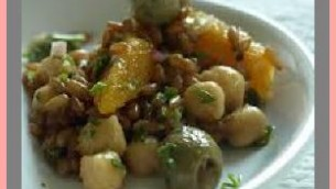 Olives with Oranges, Almonds and Garbonzo Beans