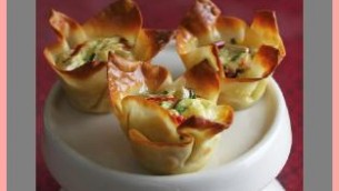 Spicy Cheese and Artichoke Tarts