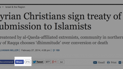 Syrian Christians sign treaty of submission to Islamists | The Times of Israel