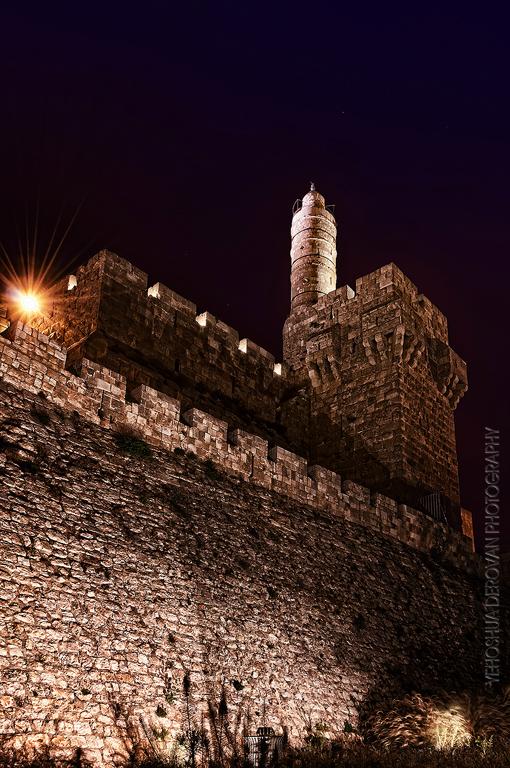 Tower of David at night... Photo by Yehoshua Derovan