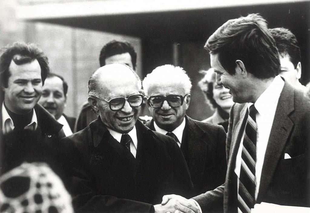 Menachem Begin at the ICEJ's Feast of Tabernacles, 1981 (Photo: Courtesy ICEJ)