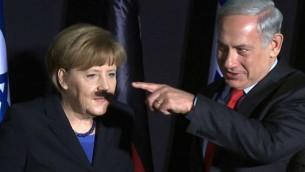 merkel-netanyahu-mustache