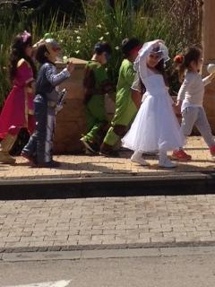 Purim parade! Photo by Sherry Orbach
