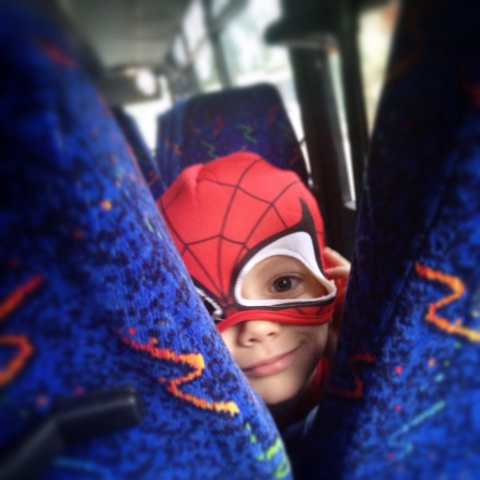 Security on the bus is tight. Photo by Sarah Tuttle-Singer