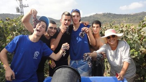 Ruti Ben Israel (on far right) with apprentices of the Shfeya Winery