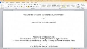 Loyola Divestment resolution.