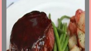 Filet Mignon with Rich Balsamic Glaze