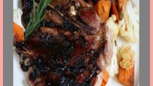 Grilled Lamb Chops with Balsamic Reduction