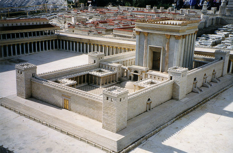 Herod's Temple model at the Holyland Hotel in 1998 (Photo: P-D, Wiki Commons)
